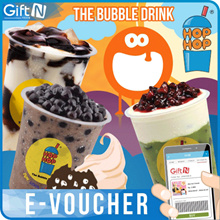 ☆Hop Hop Bubble Drink☆Rp 20000 Value E-Voucher_Big Discount_Mobile Redemption Only