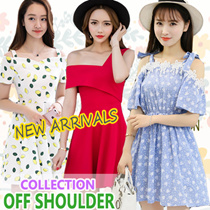 Off shoulder COLLECTION  dress/tops summer korean fashion sleeveless top Ladies top/blouse/t shirt