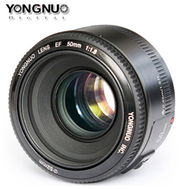 Yongnuo YN Prime Lens for Canon EF / Nikon F DSLR [50mm f/1.8][35mm f/2][40mm f/2.8]