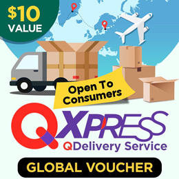 Qdelivery Service Voucher [Value S$ 10] for Global Delivery ( Overseas )
