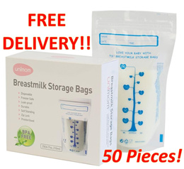 【Tresbon1987】♥Mothercare Product♥BN Unimom Standard Breast Milk Storage Bag 210ml 50pcs Per Jumbo Pack♥BPA Free♥Safe For Baby♥Jumbo Value Pack♥Made in Korea♥Singapore Seller