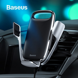 Baseus 15W Qi Wireless Car Charger Phone Holder for iPhone Samsung QC 3.0 Wireless Charging Air Vent