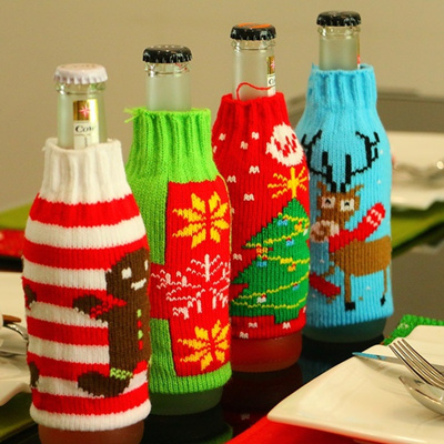 Christmas supplies Christmas decorations home beer bottles Christmas gift bags handicrafts 1PCS
