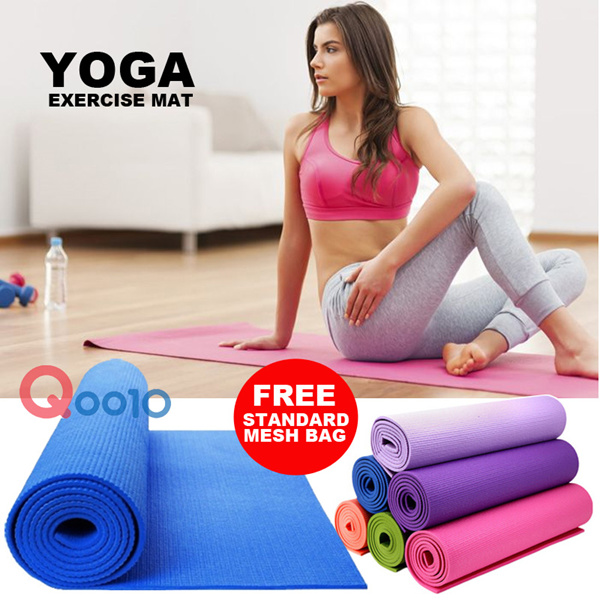 ?SPECIAL OFFERS-free MESH BAG?YOGA EXERCISE MAT 4mm5mm6mm8mm|Non Slip Features-Waterproof and dust proof Deals for only Rp169.000 instead of Rp169.000