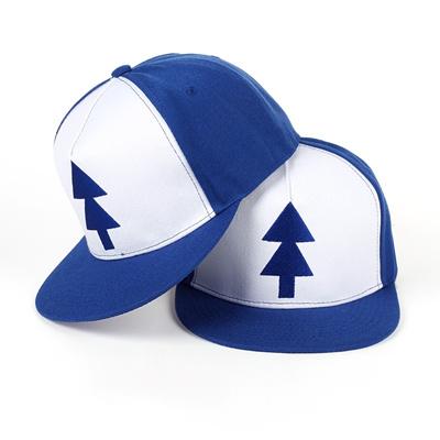 TUNICA 2017 Gravity Falls Baseball Cap BLUE PINE TREE Hat Cartoon Hip hop  Snapback Cap New 4ecdce69060