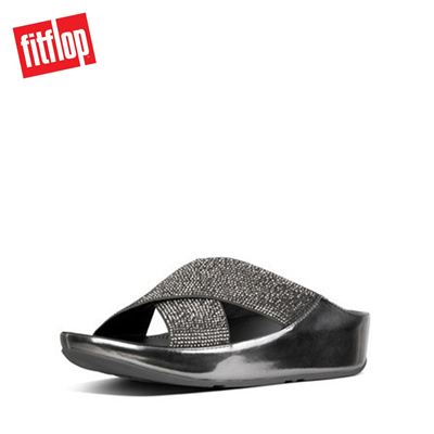7f2be99976cce2 Qoo10 - Fitflop™ Crystall Slide Metallic Pewter   Shoes
