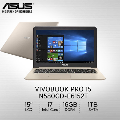 ASUSASUS VivoBook Pro 15 N580GD-E6152T/Intel® Core™ i7-8750H/DRAM DDR4 16G/  2 Years International
