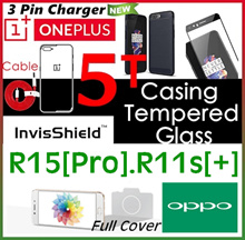 Oneplus 5T♥5♥Oppo♥R15♥R15 Pro♥R11s♥R11s Plus♥A75♥A73♥Tempered Glass Screen Protector♥Full Cover♥Case
