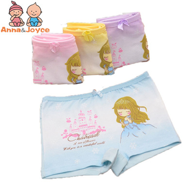 3386f095eaa 2 pcs lot Kids Girls boxer Underwear Cute Cartoon Panties Children s Girls  Kids underpants
