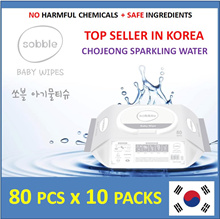 [Apply Qoo10 Coupon] ❤️ MADE IN KOREA ❤️ Sobble Wet Wipes - Chojeong Sparkling Water