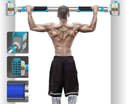 Pull Up Bar - Doorway Chin Up No Screw - Adjustable Width Locking Mechanism Exercise Fitness Workout