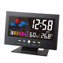 KKmoon ℃/℉ LCD 디지털 온도습도계/달력 날씨 음성활성화 백 라이트