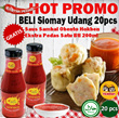 HOT PROMO!!..BELI Siomay Udang 20pcs GRATISSS.. 1 Botol Sambal Obento Extra Pedas 200ML