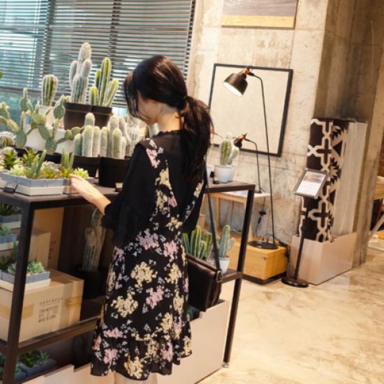 ミミ・アンド・ディディbiza ops5024 綿ワンピース/ 韓国ファッション