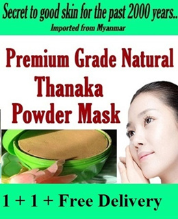 100% ORIGINAL PREMIUM GRADE THANAKA MASK 110g WHITENING/PIMPLE ELIMINATOR/SEVERE ACNE/ ANTI-AGING/PORE TIGHTENING/FACE MASK TREATMENT/BLACKHEAD/WHITEHEAD/tanaka