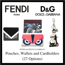 Fendi Dolce and Gabbana Pouches Wallets and Cardholders (Available In 27 Options)
