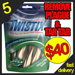 5 packs at $40 Twistix(MINT) freshen breath / reduce plaque n tartar build up 5.5oz