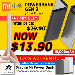 ★Xiaomi Mi Power Bank 3 ★ 20000mAh  10000mAh 5000mAh PowerBank★ 100% Authentic