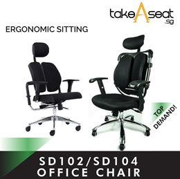 New arrival SD102/SD104 Twin padded Series Ergonomic Office chair | table