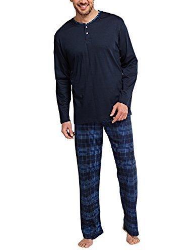 29112b7b8d Direct from Germany - Schiesser Herren Zweiteiliger Schlafanzug Selected  Premium Anzug Lang mit Knopfleiste
