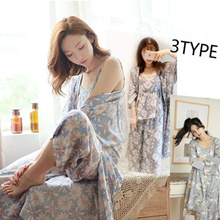 Bestsell in Japan ~~Japanese kimono sexy Set of three floral pajamas/ lingerie sleepwear