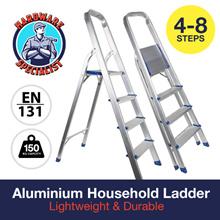 150KG CAPACITY HEAVY DUTY Aluminium Platform Ladder 3 - 8 Steps