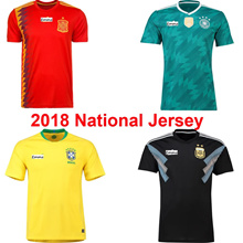 2018 National Soccer Jerseys Germany Argentina France Portugal Brazil Spain Russia Football Shirt