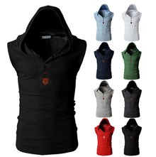 Mens Sports Leisure Jacquard Sweater Fleece Cardigan Hooded V-Neck Tee T-Shirt