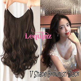 3rd Generation ! V Shape Clip on Hair Extensions Bouncy Curly Wavy Clip In Long Hair