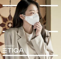 [에티카] 일회용 보건용3D 마스크 라운드 베이직 성인용 KF94 백색 대형 24pcs 한국생산