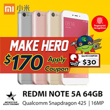 [$170 Nett ] Redmi Note 5A *16GB/32GB/ 64GB * Snapdragon - Ready Stocks! With Playstore | Export Set