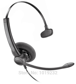 2.5mm plug headset Call Center Telephone Headset Noise Cancelling Headphone with Microphone for Link