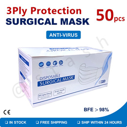 ★ Surgical Mask 3-Ply Disposable Face Protective Masks