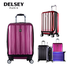 (Group) Delsey Helium Aero 4 Wheel Cabin Travel Trolley Luggage Hard Case