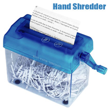 NI5L Household mini manual paper shredder hand shredder USB electric shredder simple paper shredder