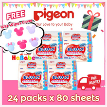 FREE SHIPPING【Japan Domestic Pigeon Baby Wet Wipes 24packs x80Sheets】99% Pure Water
