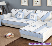 [JTKIDDO] *SG Seller* Sofa cover/100% Premium Cotton/ Sofa Protector/Seat Cover/Cushion Cover