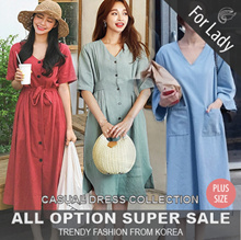 ♥Buy Get Free Gift♥14th Aug Update New Arrivals ♥Korean Style♥ Linen / Casual Dress / LOOSE Fit  / Basic / Plus Size
