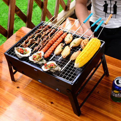 Mini BBQ Grill Portable Balcony Indoor Outdoor Cooking Party Gift Foldable  Barbecue Grill