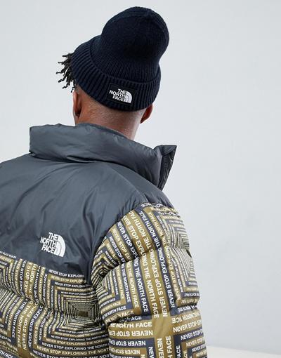 b8edb608 Qoo10 - The North Face Logo Box Cuffed Beanie Hat in Navy : Sportswear