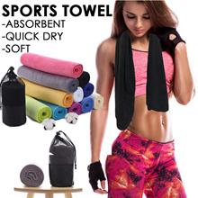 ★Soft Microfiber Sports Towel ★ 30x100CM Compact / Absorbent / Quick Dry / Soft /Antibacterial/Towel