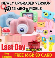 [Christmas gifts KIDS TOYS SALE FREE 16GB SD CARD] 13MP HD camera / Children Camera / Video Cam /