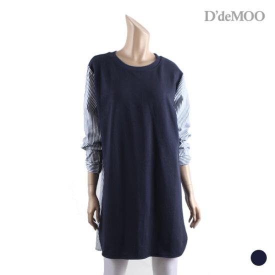ディデム配色シャツ、ワンピースKW1710526 面ワンピース/ 韓国ファッション
