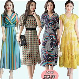 f2faffc931 Group Buy Korean style Slim lace Chiffon dress Plus size Dresses Beach  skirt Bohemia floral dress work dress
