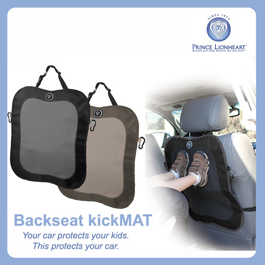 Black Prince Lionheart Back Seat Kick Mat 2 Pack