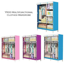 Multifunctional One-Piece Roll Up Curtain Clothes Wardrobe