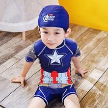 Captain America One Piece Swimwear Swimsuit for Boys