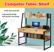 【Computer Tables with Bookshelf】 Study Table /Desktop /Storage Drawers/Cabinet/Bookshelves/Organizer