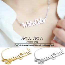♥GIFT♥Handcrafted Nameplate Necklace from Korea- Special Carving Service