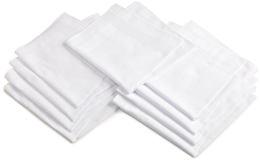 PURE SOFT COTTON PLAIN WHITE HANKIES